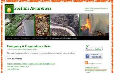 http://sohumawareness.org/2012/03/26/emergency-preparedness-links/