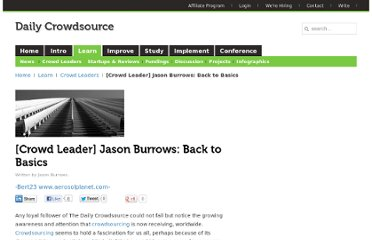 http://dailycrowdsource.com/crowdsourcing/crowd-leaders/279-crowd-leader-jason-burrows-back-to-basics