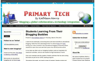 http://primarytech.global2.vic.edu.au/2012/03/27/students-learning-from-their-blogging-buddies/