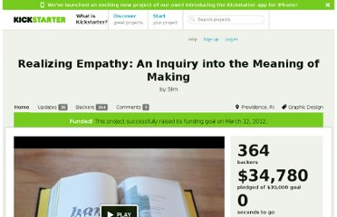 http://www.kickstarter.com/projects/seungchan/realizing-empathy-an-inquiry-into-the-meaning-of-m