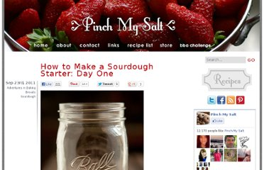 http://pinchmysalt.com/how-to-make-a-sourdough-starter-day-one/