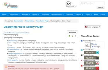 http://www.phoca.cz/documents/14-phoca-gallery-plugin/58-displaying-phoca-gallery-plugin