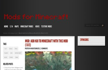 http://www.modsforminecraft.com/mod-add-koi-to-minecraft-with-this-mod-1-8-1/#more-233