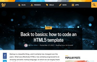 http://www.webdesignerdepot.com/2012/03/back-to-basics-how-to-code-an-html5-template/