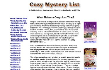 http://www.cozy-mystery.com/Definition-of-a-Cozy-Mystery.html