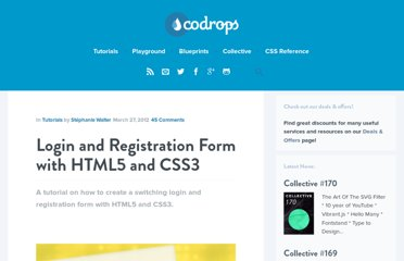 http://tympanus.net/codrops/2012/03/27/login-and-registration-form-with-html5-and-css3/