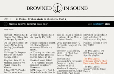 http://drownedinsound.com/lists/spotify