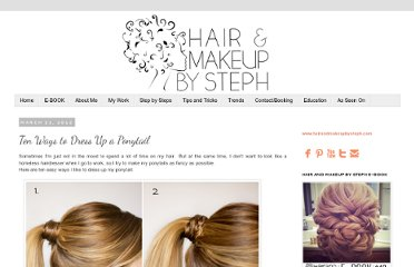 http://blog.hairandmakeupbysteph.com/2012/03/ten-ways-to-dress-up-ponytail.html