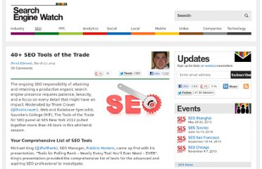 http://searchenginewatch.com/article/2164037/40-SEO-Tools-of-the-Trade