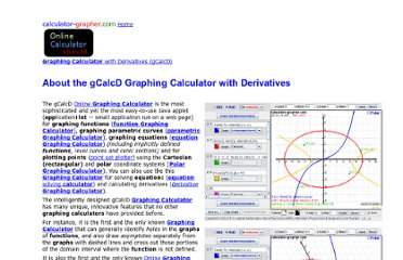 http://www.calculator-grapher.com/aboutGCalcD/index.html