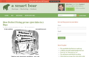http://blog.asmartbear.com/perfect-pricing.html