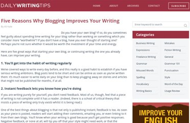 http://www.dailywritingtips.com/five-reasons-why-blogging-improves-your-writing/