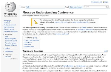 http://en.wikipedia.org/wiki/Message_Understanding_Conference