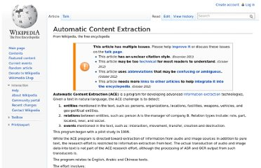 http://en.wikipedia.org/wiki/Automatic_Content_Extraction