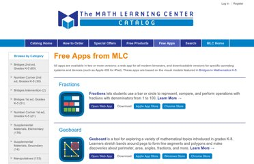http://catalog.mathlearningcenter.org/apps
