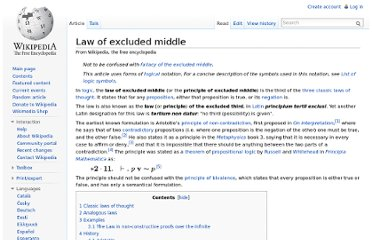 http://en.wikipedia.org/wiki/Law_of_excluded_middle