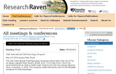 http://www.researchraven.com/find-conferences-and-meetings.aspx