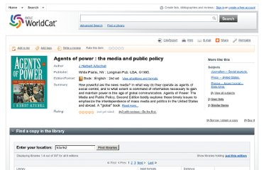 http://www.worldcat.org/title/agents-of-power-the-media-and-public-policy/oclc/29389757