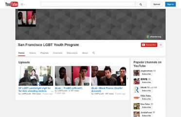 http://www.youtube.com/user/LGBTyouth