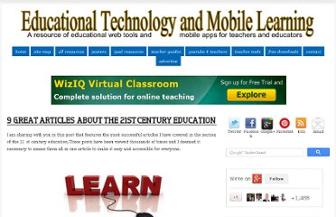 http://www.educatorstechnology.com/2012/02/9-great-articles-about-21st-century.html