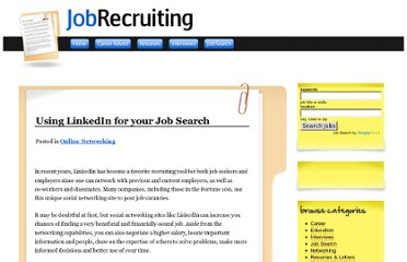 http://www.jobrecruiting.com/online-networking/using-linkedin-for-your-job-search
