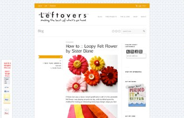 http://www.craftleftovers.com/projects/how-to-loopy-felt-flower-by-sister-diane/