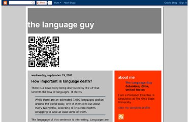 http://thelanguageguy.blogspot.fr/2007/09/how-important-is-language-death.html