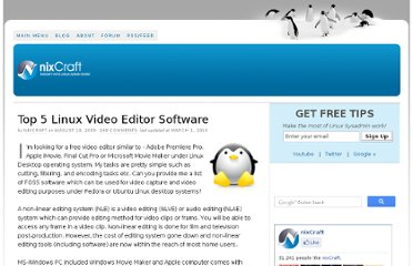 http://www.cyberciti.biz/faq/top5-linux-video-editing-system-software/