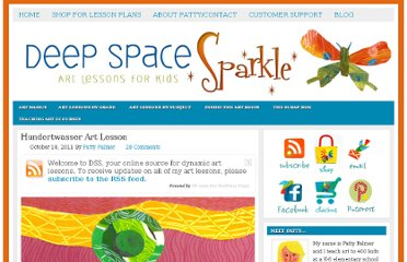 http://www.deepspacesparkle.com/2011/10/18/hundertwasser-art-lesson-for-kids/