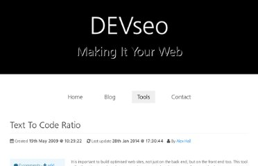 http://devseo.co.uk/tools/show_tool/text_to_code_ratio