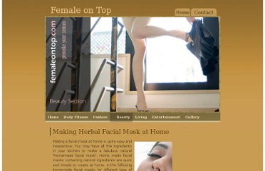 http://www.femaleontop.com/beauty/facialmasks.html