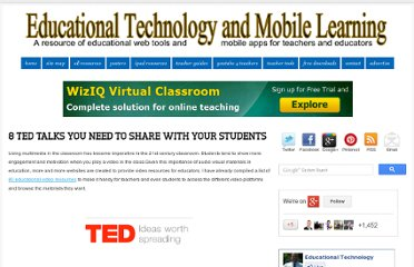 http://www.educatorstechnology.com/2012/03/8-ted-talks-you-need-to-share-with-your.html