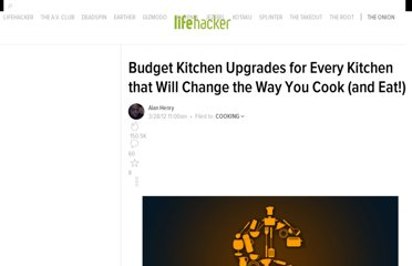 http://lifehacker.com/5897045/budget-kitchen-upgrades-for-every-kitchen-that-will-change-the-way-you-cook-and-eat