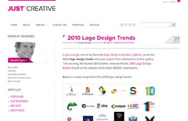http://justcreative.com/2010/04/21/2010-logo-design-trends/