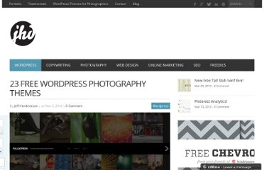 http://www.jeffhendricksondesign.com/free-photo-wordpress-themes/