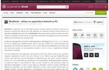 http://www.journaldugeek.com/2012/03/28/bluestacks-utiliser-applications-android-sur-pc/