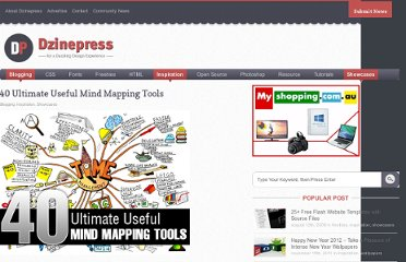 http://www.dzinepress.com/2010/03/40-ultimate-useful-mind-mapping-tools/