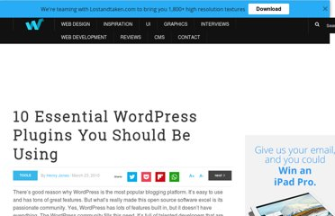 http://webdesignledger.com/tools/10-essential-wordpress-plugins-you-should-be-using