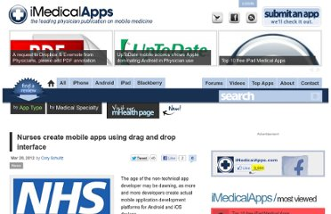 http://www.imedicalapps.com/2012/03/nurses-create-mobile-apps-simple-interface/