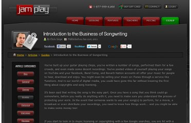 http://www.jamplay.com/articles/5-guides/190-introduction-to-the-business-of-songwriting