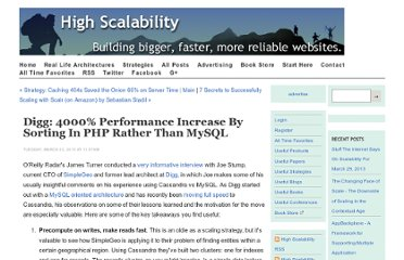 http://highscalability.com/blog/2010/3/23/digg-4000-performance-increase-by-sorting-in-php-rather-than.html