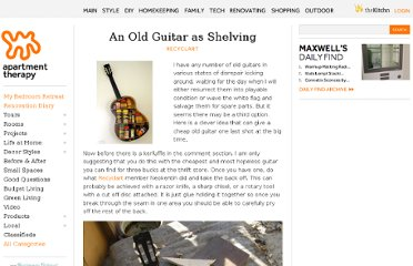 http://www.apartmenttherapy.com/an-old-guitar-as-shelvingrecyclart-165705