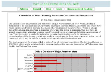 http://www.rationalrevolution.net/articles/casualties_of_war.htm