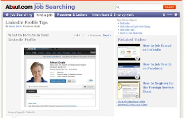 http://jobsearch.about.com/od/linkedin/ss/linkedin-profile-tips.htm