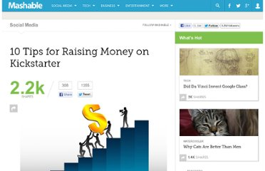 http://mashable.com/2012/03/28/raising-money-kickstarter/
