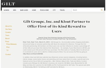 http://www.gilt.com/company/press/gilt-groupe-inc-and-klout-partner-offer-first-its-kind-reward-users