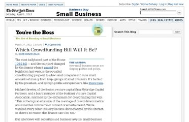 http://boss.blogs.nytimes.com/2012/03/27/which-crowdfunding-bill-will-it-be/