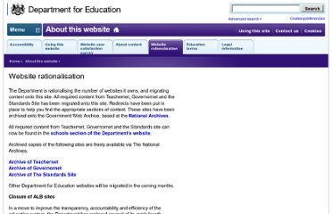 http://www.education.gov.uk/help/websiterationalisation
