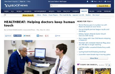 http://news.yahoo.com/healthbeat-helping-doctors-keep-human-touch-054127831.html