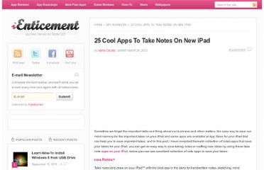 http://www.ienticement.com/app-roundups/25-cool-apps-to-take-notes-on-new-ipad/